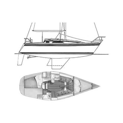 Illustration of a Hunter 28