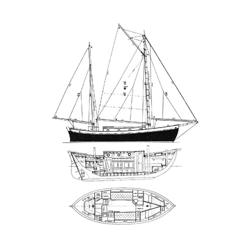 Illustration of a Tahiti Ketch