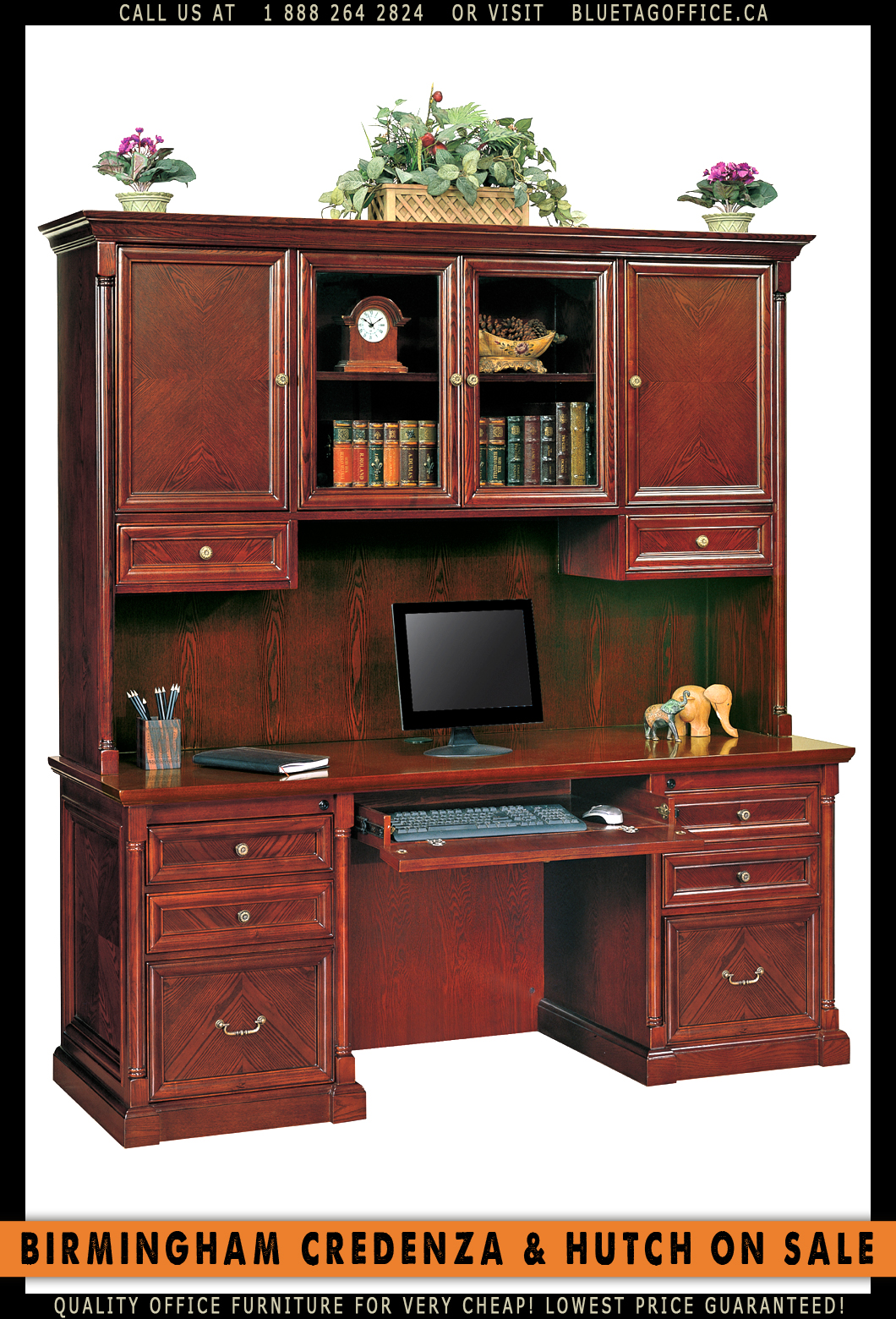 Birmingham UShaped Desk with Hutch for Very Cheap
