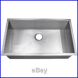33 x 22 kitchen sink faucet with side sprayer 9 under mount single basin stainless steel 18 gauge