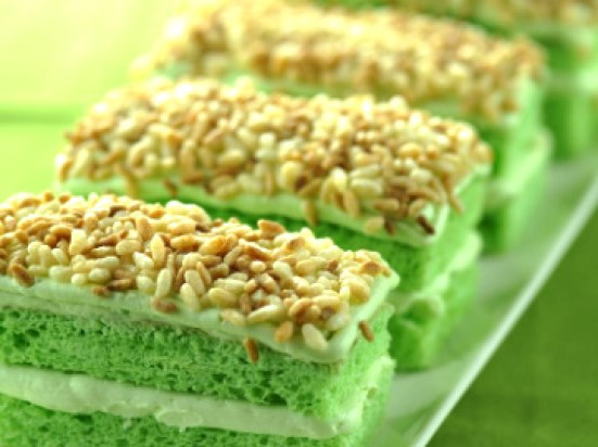 Pandan Cake Bars Recipe