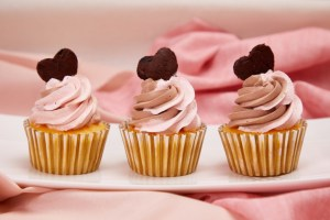 Strawberry Chocolate Hazelnut Cupcakes