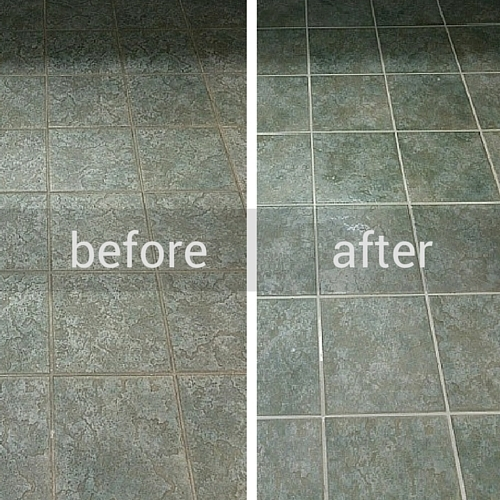 Newgen Restores Title & Grout Before and After