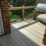 deck staining before & after