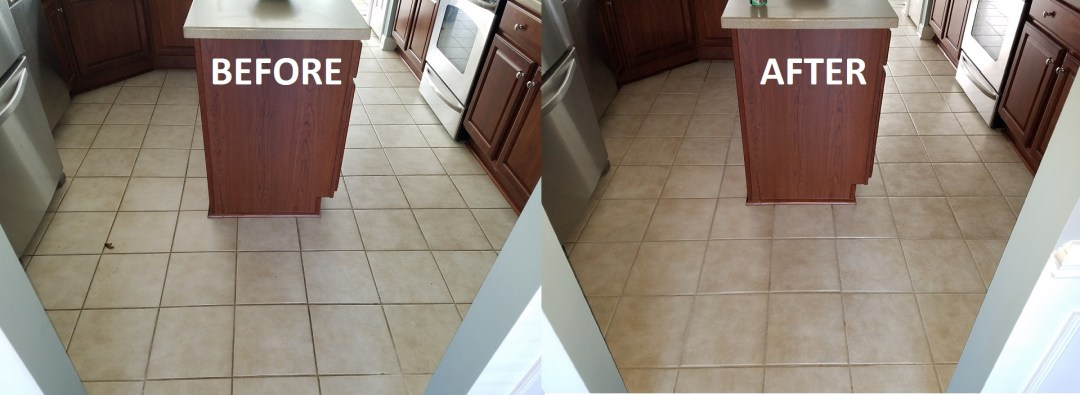 Tile Cleaning at Go Left Marketing's Residence