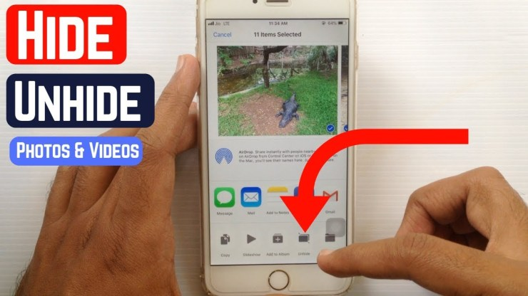 How to Hide/Unhide Photos and Videos on iOS