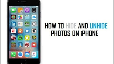 How to Hide Unhide Photos and Videos on iOS1