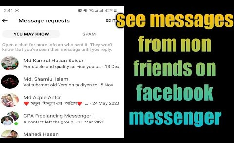 How to See Messages From Messenger Non-Friends