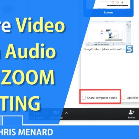 Share Audio on Zoom
