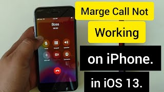 iPhone Conference Call Won't Merge