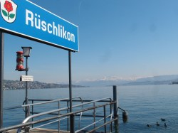 The ferry dock at Ruschlikon