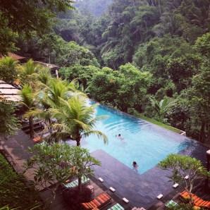 The infinity pool at Chapung Sebali