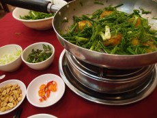 Cha Ca fish stir fry—my actual last meal!—in Hanoi, Vietnam
