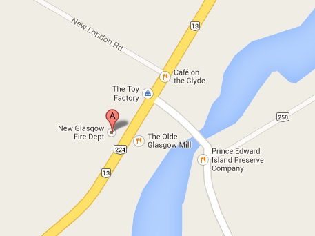 Map of New Glasgow, PEI