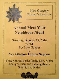 2014 Meet Your Neighbour Night - New Glasgow Womens Institute