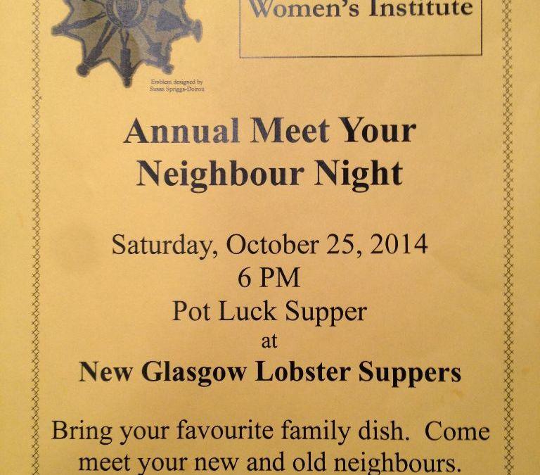Meet Your Neighbour Night 2014