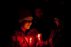 christmas tree lighting and candle walk 2013