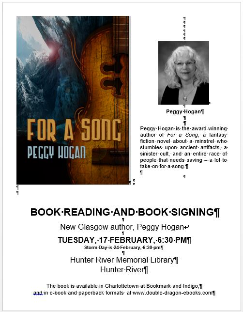 Book Reading and Signing by New Glasgow Author!