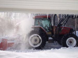 Harvey MacDonald blowing snow