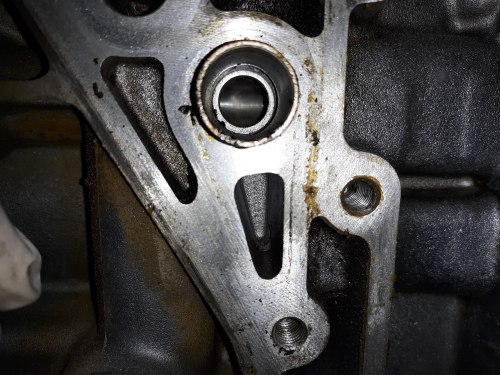 small resolution of the oprv resides just downstream of the oil filter it s end is exposed to a vertical oil passage in the side of the block here is a picture but it is hard