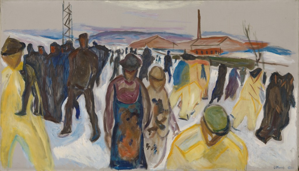 Edward Munch: Workers Returning Home 1920.