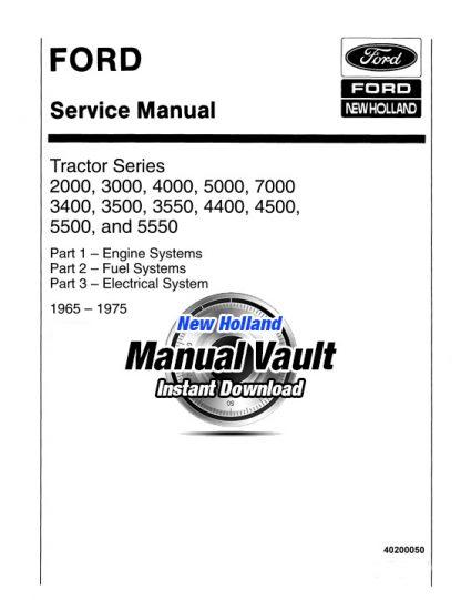 1965-1975 Ford 2000, 3000, 4000, 5000, 7000 Tractor Repair