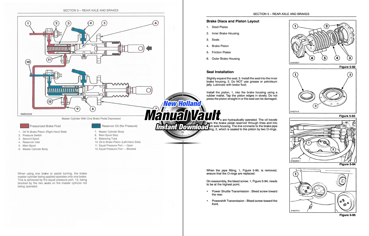 New Holland 555e  575e  655e  675e Backhoe Repair Manual