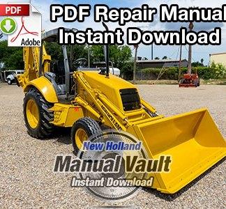 New Holland 555E, 575E, 655E, 675E Tractor Loader Backhoe Repair Manual