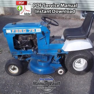 Ford 70, 75 Lawn Tractor Repair Manual