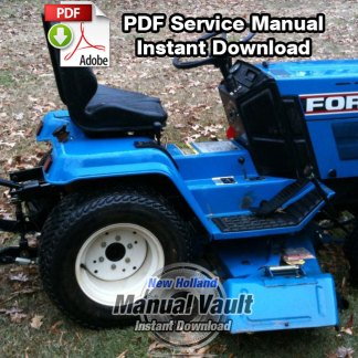 Ford LGT 14D, 16D Diesel Tractor Shop Repair Manual
