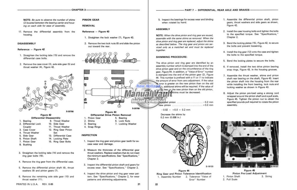 Tractor Repair Manual Sample Page PDF