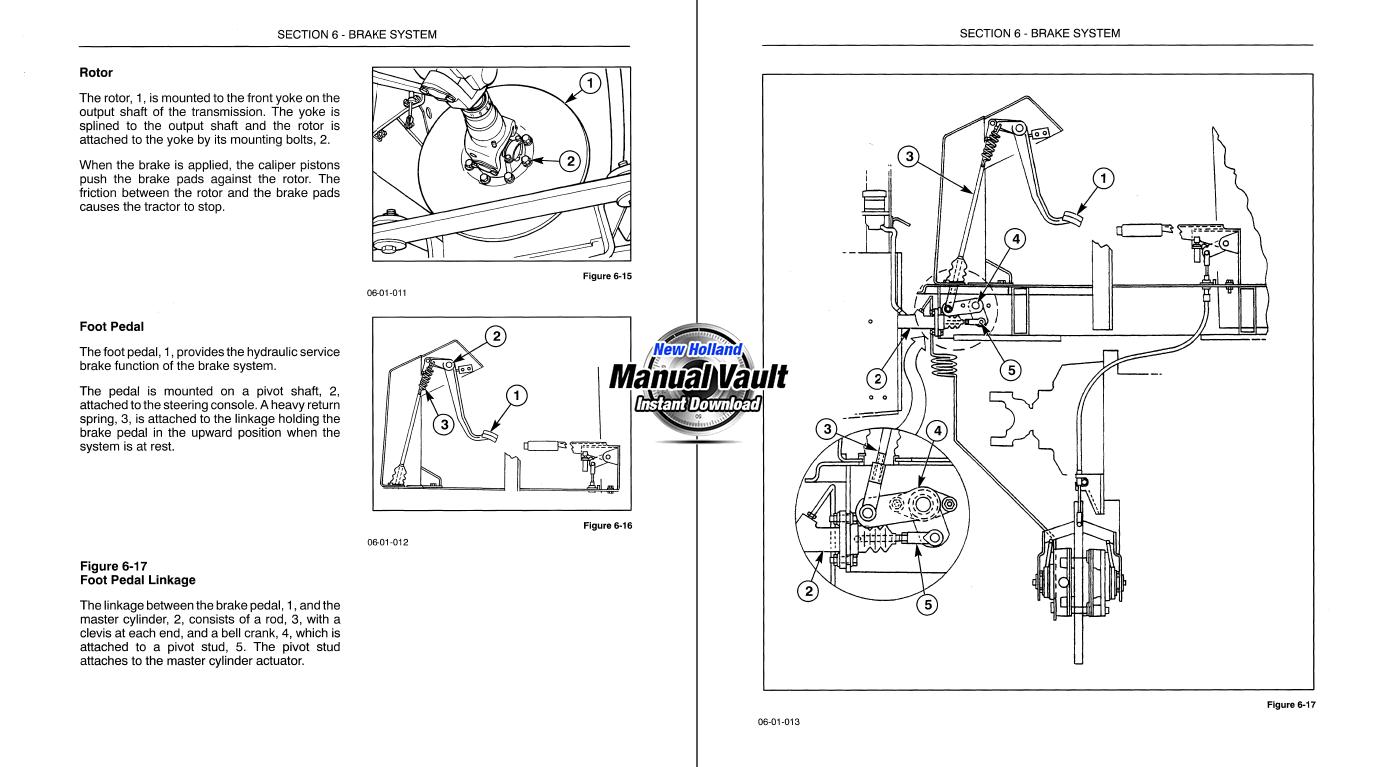 New Holland Tl80a  Tl90a  Tl100a Tractor Service Manual