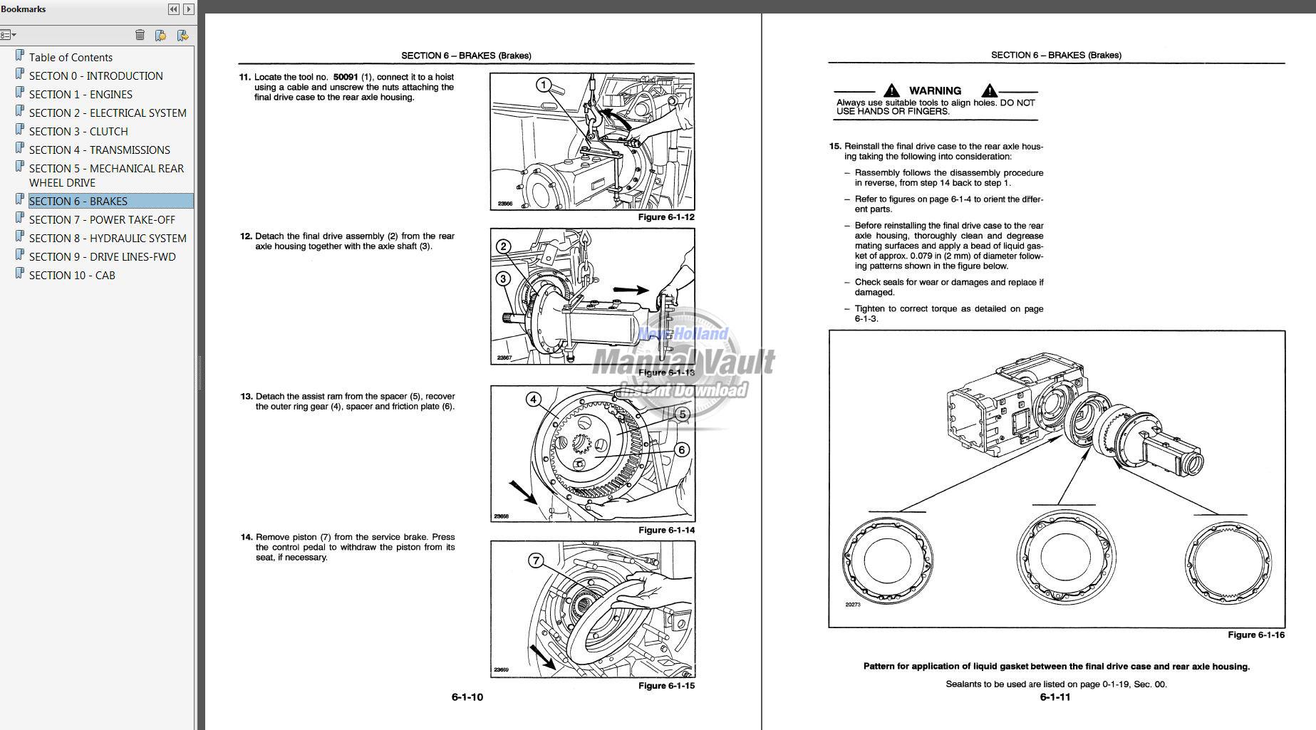 Service Manual vault New holland Ls170 skid steer on