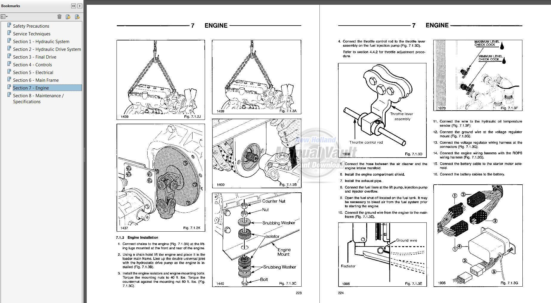 ford cl35  cl45 skid steer loader repair manual