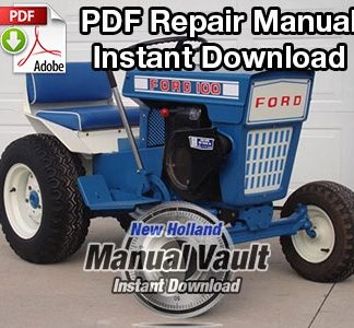 Ford 50, 60, 65, 70, 75, 85 Riding Mower & Tractor Engine Repair Manual