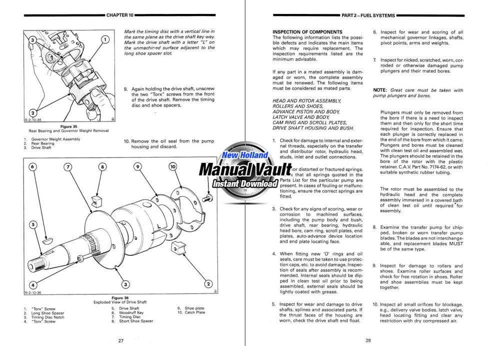Ford Versatile 836  846  856  876  936  946  956  976 Tractor Service Manual