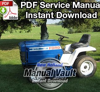 Ford 100, 120, 125, 145, 165, 195 Lawn Garden Tractor Service Manual