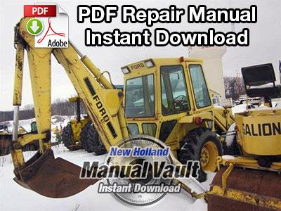 Ford 765 Series Backhoe Repair Manual