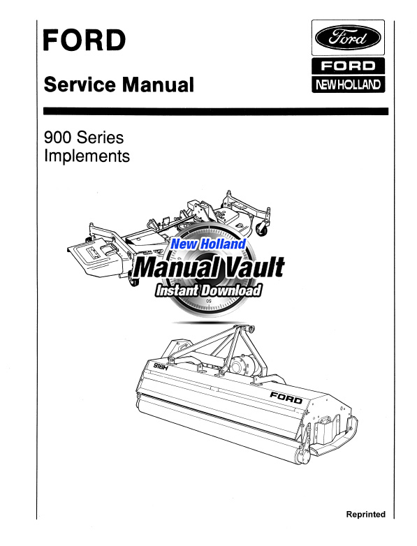 Ford 900 Series Tractor Attachments Service Manual