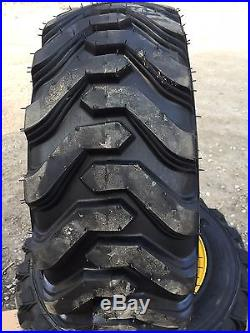 4 Hd 10 16 5 Trac Chief Xt Skid Steer Tires Wheels Rims
