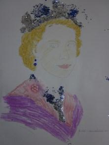 An elegant sparkly Queen