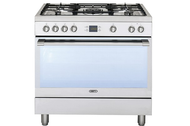 New Home Furnishers 187 Defy 5 Burner Stainless Steel Gas