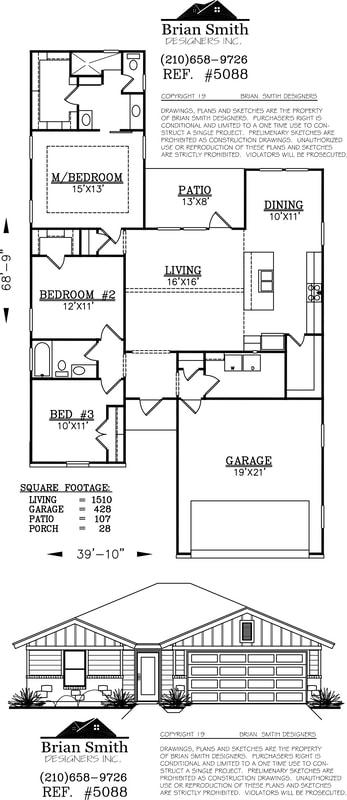 10x11 Bedroom : 10x11, bedroom, Cepillo, Ridge, Floorplans