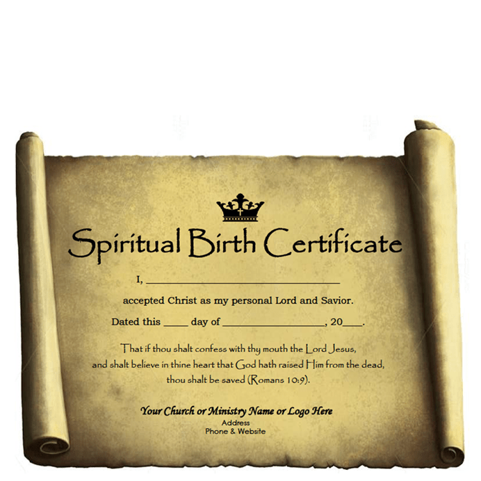 Spiritual Birth Certificate – Customizable