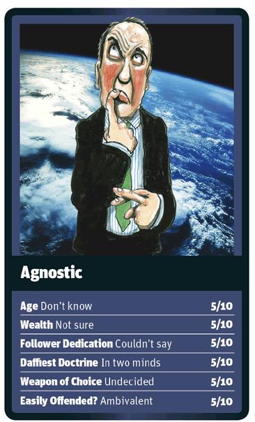 Agnostic card for God Trumps