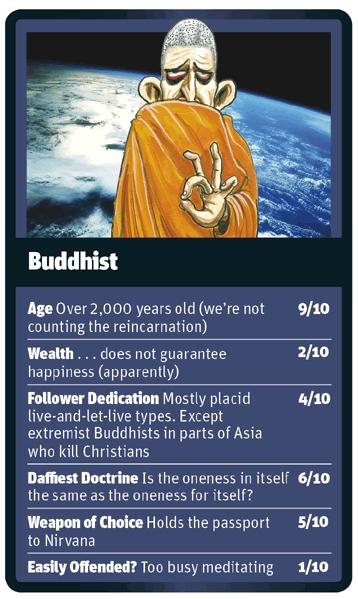 Buddhist card for God Trumps