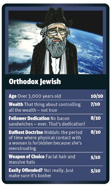 Orthodox Jewish card for God Trumps