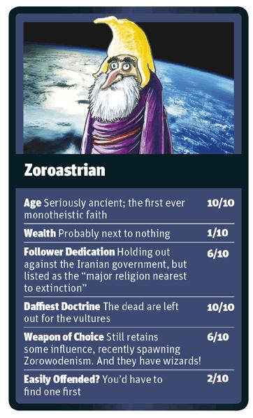 Zoroastrian card for God Trumps