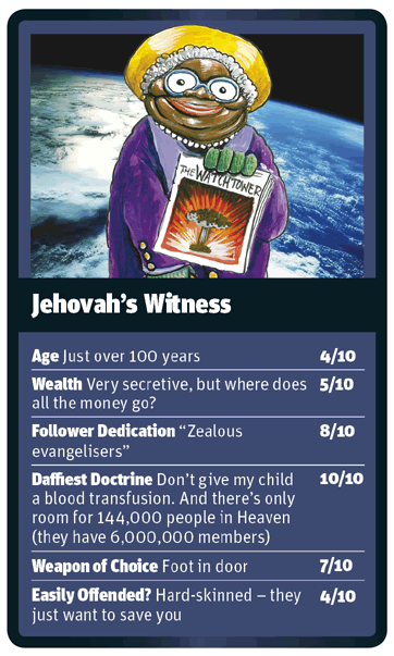Jehovah's Witness card for God Trumps