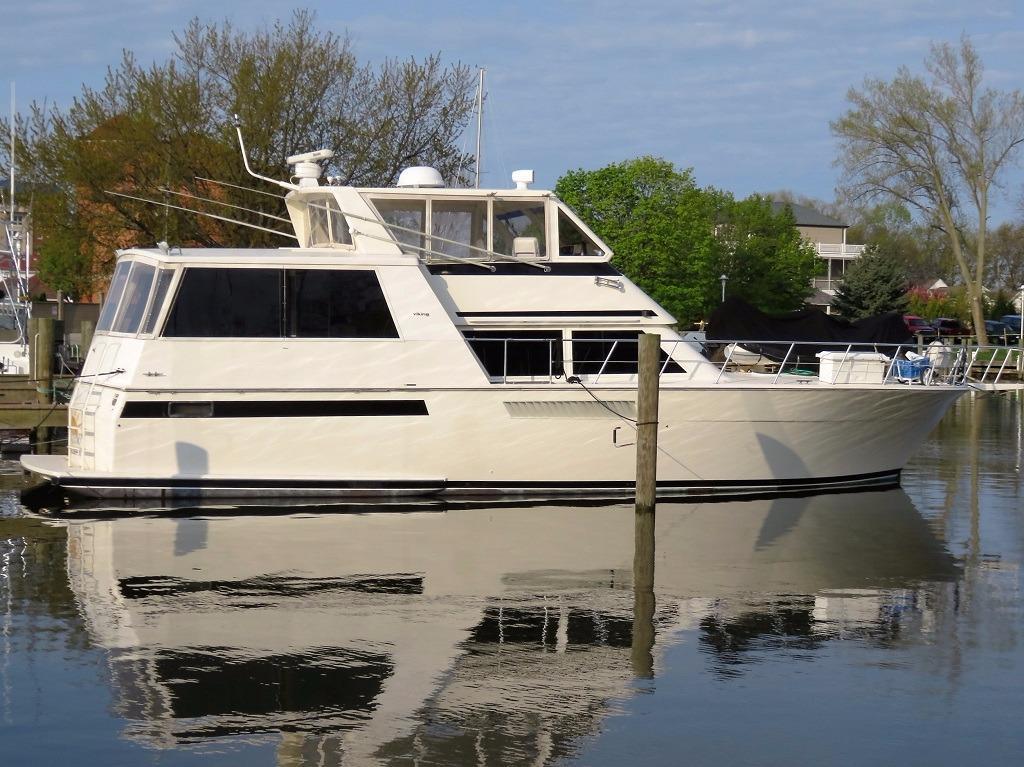 1993 Viking 54 Sports Yacht Power Boat For Sale Www